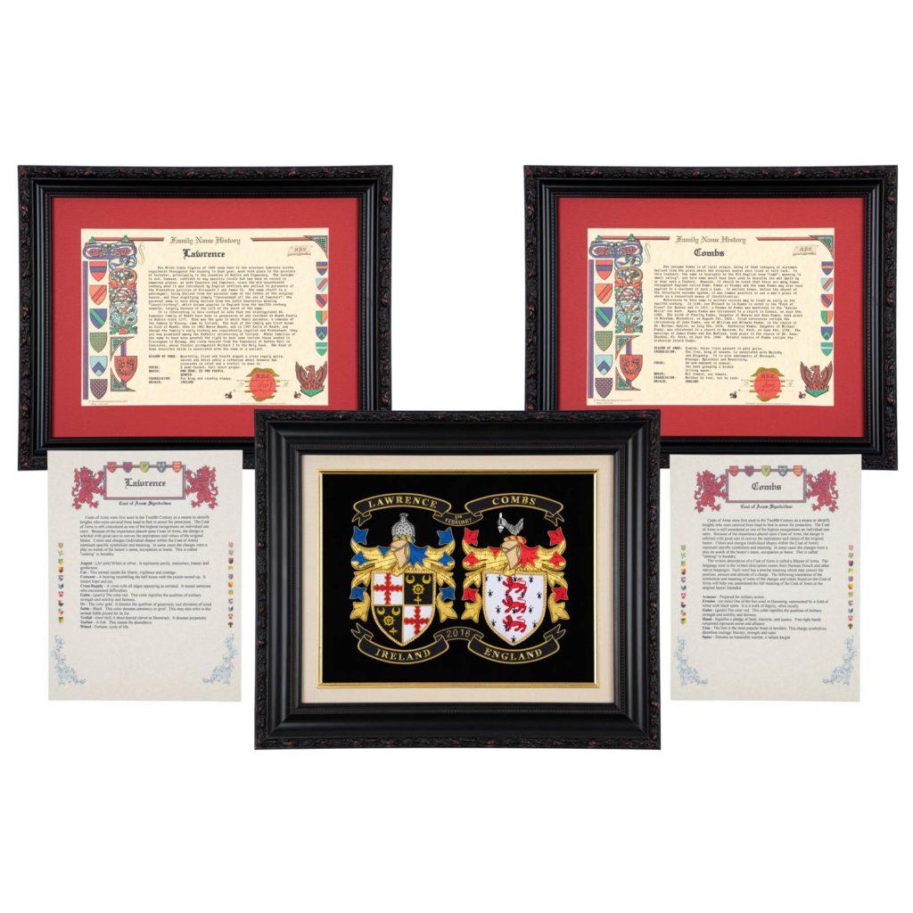 Wedding Family Coat of Arms Set